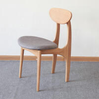 北欧简约实木餐椅蝴蝶椅创意咖啡休闲椅 布艺棉麻靠背椅子ll