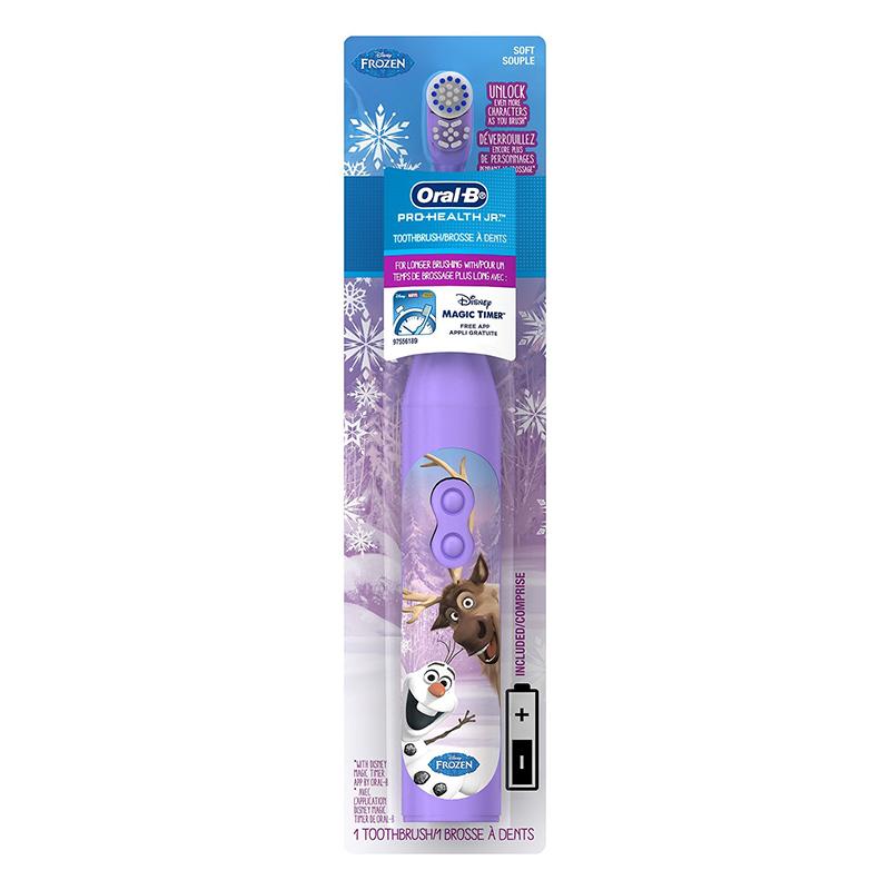 美国直邮 Oral-B欧乐B 儿童牙刷迪士尼图案电池入 冰雪奇缘款 海外购 让宝宝爱上刷牙