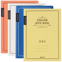 【满100-50】得力EB56001 笔记本缝线英语本 B5 学生本册 时尚设计  学生作业本