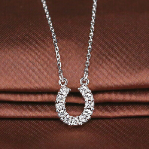 施华洛世奇Towards马蹄形项链 水晶般质感玫瑰金色银色项链11797245094964