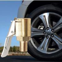 车载充气泵美式螺纹气嘴转接头汽车打气泵配件快速转换头夹式气嘴