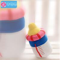 咔噜噜 奶瓶抱枕 靠垫 创意毛绒玩具 礼品 25厘米   情人节礼物