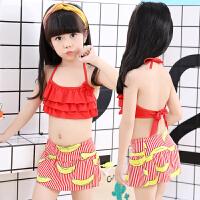 新款韩版儿童游泳衣女童分体香蕉可爱中小童裙式宝宝泳装