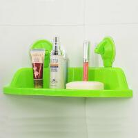 吸盘三角浴室置物架颜色可随机 绿色吸盘三角浴室置物架颜色可随机