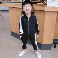 夏季女童运动套装儿童女夏装2018韩版新款两件套中大童童装潮装