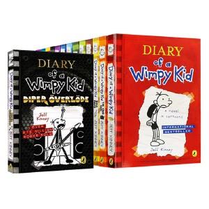 13册小屁孩日记英文原版  Diary Of A Wimpy Kid 进口原版儿童小说桥梁书 7-12岁美国初中小学生 幽默漫画英文版 儿童英文原版读物 A to Z Mysteries