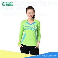 乒乓球衣网球裙裤装长袖款大码羽毛球服女套装裤速干衣 XXX