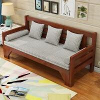 实木沙发床可折叠客厅双人单人书房小户型多功能坐卧两用 1.8米-2米
