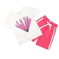 女童夏装套装童装中大童潮儿童短袖短裤运动服两件套