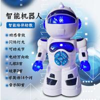 电动机器人跳舞儿童会旋转唱歌小男孩子1-2-3-4岁女宝宝音乐玩具