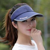 休闲百搭防晒帽女士棒球帽 户外运动太阳帽子男士遮阳帽 韩版空顶棒球帽