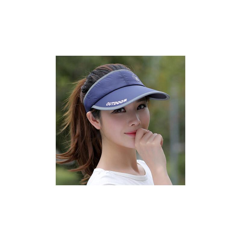 休闲百搭防晒帽女士棒球帽 户外运动太阳帽子男士遮阳帽 韩版空顶棒球帽 品质保证 售后无忧