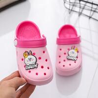 宝宝拖鞋夏1-3岁2男童室内防滑家居儿童洞洞鞋婴儿幼儿女童凉拖鞋