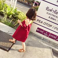 2018年夏季吊�П承呐�童�w�w袖�B衣裙�n版潮�胗�和�公主裙