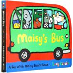 Maisy's Bus 小鼠波波英文原版绘本 系列纸板书 启蒙交通工具纸板书