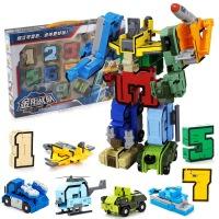 新乐新数字变形3-6岁金刚合体益智机器人拼装男孩儿童玩具