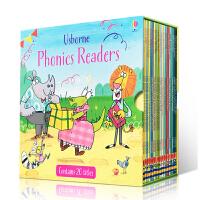 英文原版正品进口童书 Usborne Phonics Readers Boxset 斯伯恩韵文自然发音拼读绘本故事书20册盒装套装 3-6岁阅读故事童书绘本