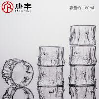 唐丰玻璃品茗杯透明泡茶杯简约创意小清新家用喝茶杯耐热功夫茶杯