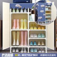 简易鞋柜防尘宿舍家用省空间门口收纳柜多层钢管组装置物架鞋架子