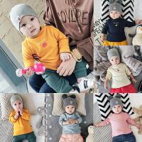 婴儿高领打底衫加绒冬季保暖内衣男女宝宝长袖绒衫0-3-6-9-12个月