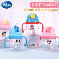 迪士尼学饮杯宝宝水杯6-18个月儿童吸管杯婴儿防漏防呛两用鸭嘴杯