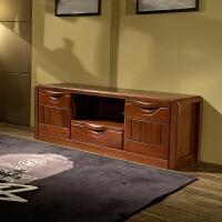 金丝檀木电视柜 客厅组合厅柜三件套 全实木家具地柜 整装