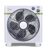 美的(Midea)KYT25-15AW 电风扇(倾倒自动断电 四挡风速可调 柔和送风 小巧便携)