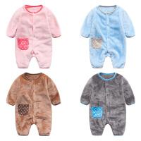 新生儿宝宝婴儿冬装03个月衣服冬季外出抱衣连体衣秋冬爬服