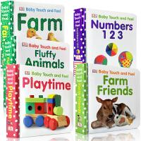 顺丰发货 英文原版进口纸板书 DK Baby Touch and Feel 5本宝宝触摸书  0-3-4-5岁宝宝启蒙学习英语图画书