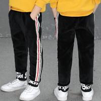 童装男童春冬装裤子休闲中大儿童金丝绒运动裤男孩韩版潮