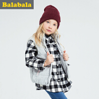 巴拉巴拉童装 女童马甲中大童上衣2016冬装新款儿童时尚无袖背心