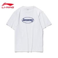 李宁短袖T恤男女同款2020新款运动时尚圆领夏季休闲针织运动服
