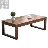 简约茶几实木榻榻米茶几飘窗小茶桌简易炕桌小户型客厅矮桌客厅定制 组装
