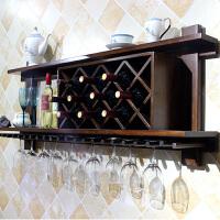 实木酒架壁挂墙上红酒家用墙壁美式现代简约餐厅置物架壁挂式酒柜