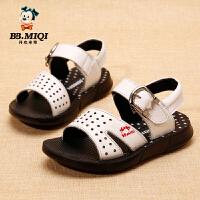 开心米奇男童鞋夏季新款牛皮凉鞋韩版中小童儿童沙滩鞋休闲男孩鞋