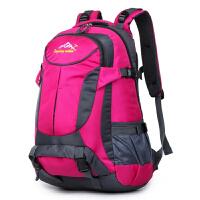 户外登山包50L大容量防水旅游旅行背包男女双肩包男士运动骑行包 玫红色