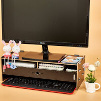 物有物语 桌面收纳盒 液晶显示器屏增高架电脑显示器底座托架置物架收纳架
