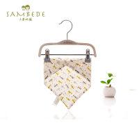 三木比迪婴儿三角巾纯棉初生儿双层按扣围嘴新生婴幼儿宝宝口水巾