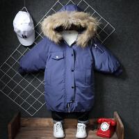 韩版宝宝棉袄儿童中长款羽绒外套潮小孩男童冬装棉衣