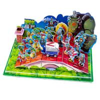 植物大战僵尸 3d立体拼图儿童玩具男孩6岁以上全套手工拼插纸模型