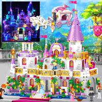 �犯叻e木女孩子系列冰雪奇�城堡公主�羝�D益智拼�b玩具�和��Y物