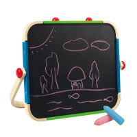 Hape便携艺术画板3-6岁多功能磁性画板儿童益智画画玩具绘画手工E1009