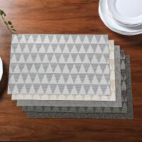 奇居良品 可水洗西餐桌防滑餐垫隔热垫子 现代款编织纹PVC餐垫