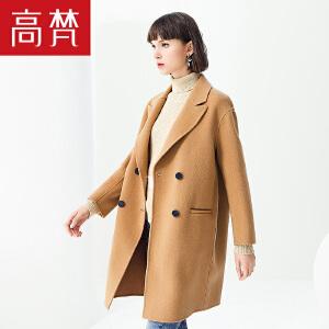 【1件3折 到手价:479元】高梵秋冬新款毛呢外套女羊毛中长款韩版宽松双面呢大衣外套