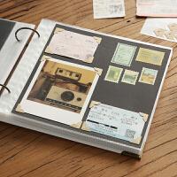 回忆录DIY粘贴式 影集插页式拍立得情侣手工保护覆膜同学录相册本
