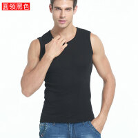 运动背心男士无袖T恤棉健身紧身打底肩宽肩男夏季青年修身型