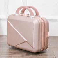 可爱化妆箱公主箱子女手提箱14寸箱包结婚箱旅行箱包 玫瑰金 14寸