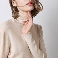 女士针织衫 高领打底衫毛衣纯色针织衫