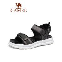 camel骆驼男鞋夏季2019新款户外休闲沙滩鞋男韩版拖鞋透气耐磨牛皮凉鞋