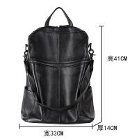双肩包女韩版2018新款真皮女士软皮包两用大容量电脑背包旅行大包
